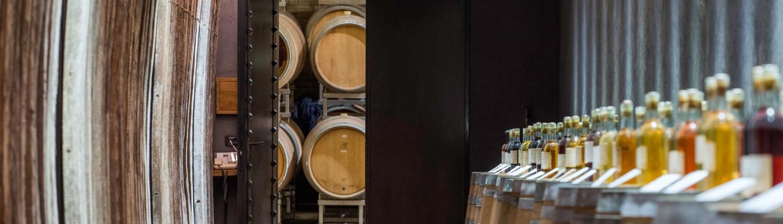 entrance too the wine cellar of casale del giglio