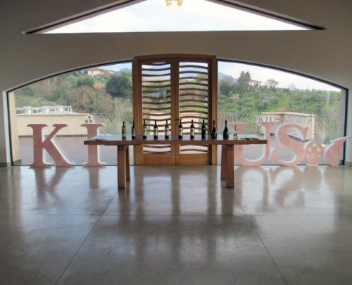 wine tasting room in Tuscany like environment near Rome