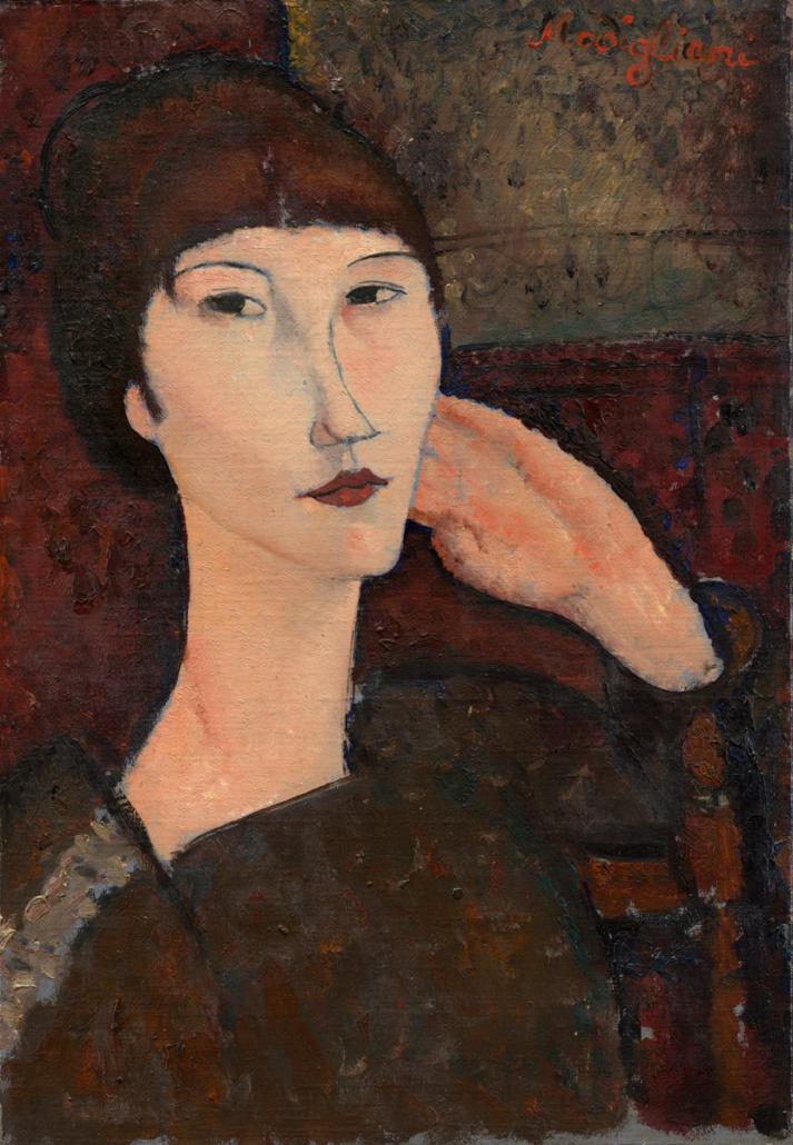 Amedeo Modigliani, Adrienne, Oil on linen, 1917, National Gallery of Art, Washington, OA.